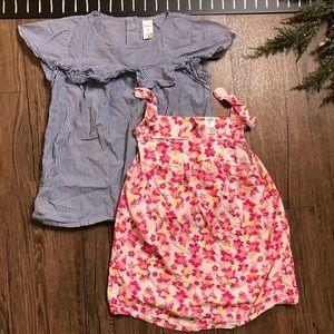Carter's Girls Shirts, Ruffle Stripe & Floral